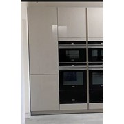 Integrated fridge/ freezer cabinet
