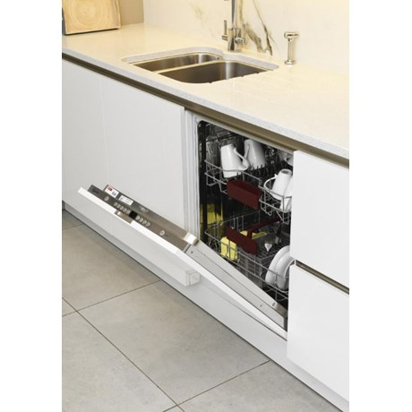 Integrated dishwasher front panel