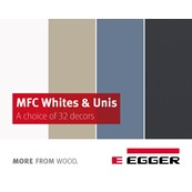 EGGER MFC Whites & Uni Colours