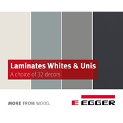 EGGER Laminate Whites & Uni Colours