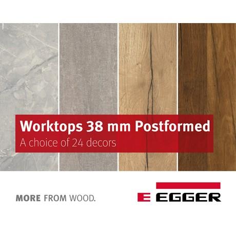 EGGER Worktops 38mm Postformed