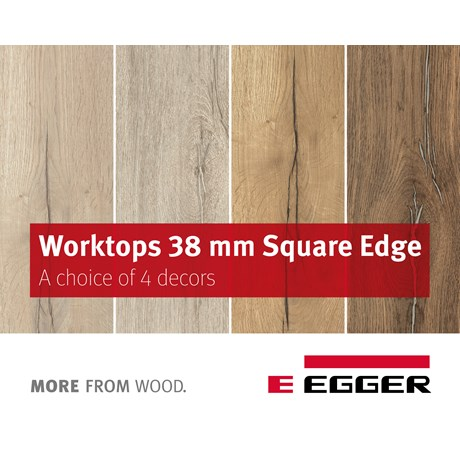EGGER Worktops 38mm Square-edged
