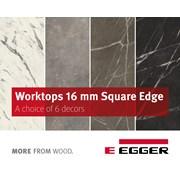 EGGER Worktops 16mm Square-edged