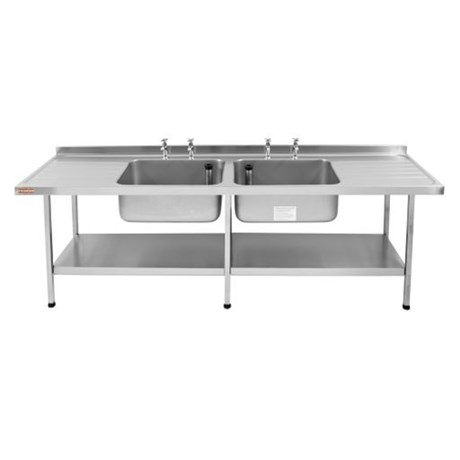 Catering Sink - Midi Double Bowl (Double Drainer)