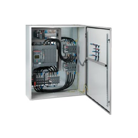 4 Pole Dual Bypass ATS with S3. Blank door. Wall mountable.