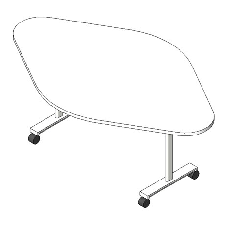Scrum Flip Top Nesting Table - Lemon