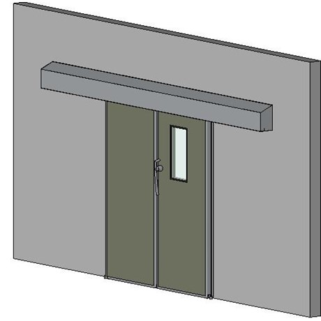 Hermetically Sealing Bi Parting Sliding Door