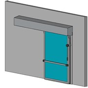 Hermetically Sealing Cold Room Sliding Door