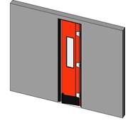Retail Single Crash Door