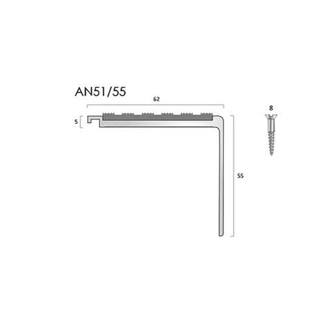 AN51/55 aluminium stair nosings