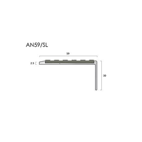 AN59/55SL aluminium stair nosings