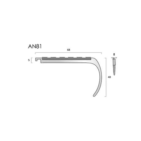 AN81 aluminium stair nosings