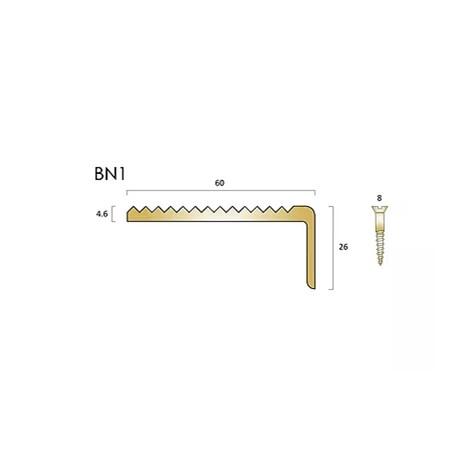 BN1 brass stair nosings