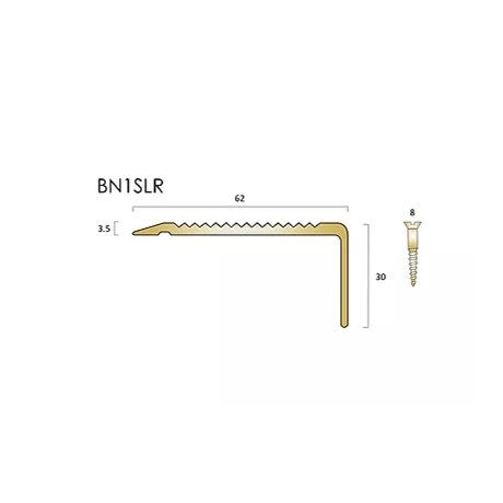 BN1SLR brass stair nosings