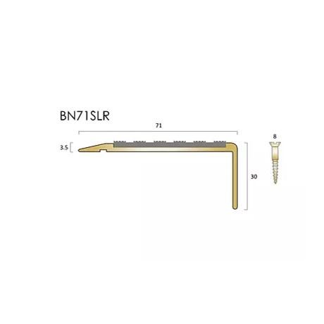BN71SLR brass stair nosings