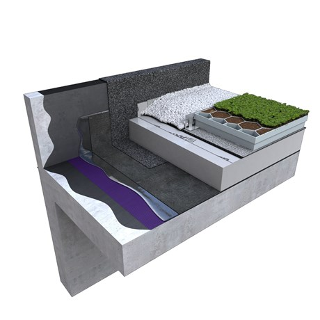 Wilotekt® Plus Inverted Roof Hot Melt Structural Waterproofing Living Roof System