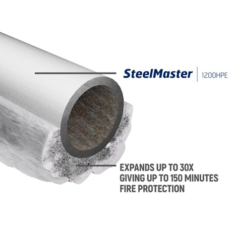 SteelMaster 1200HPE Protective intumescent coating