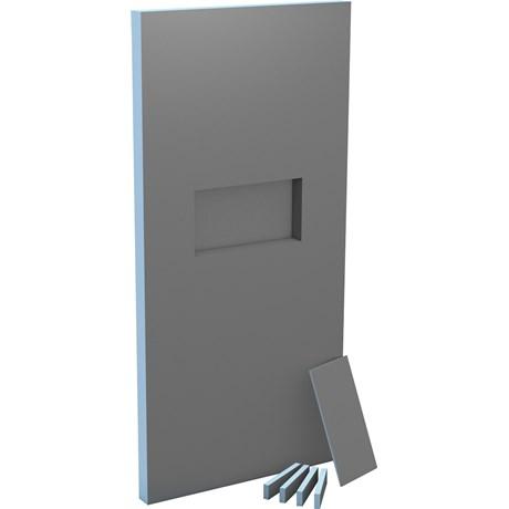 Sanwell shower partition with niche