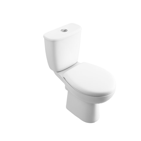 Atlas Smooth Bottom Inlet Close Coupled Push Button Cistern