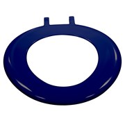 Blue Ring Seat with Top Fix Hinges No Lid