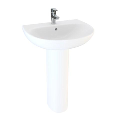 Designer Series 5 35 cm 1TH basin and bottle trap