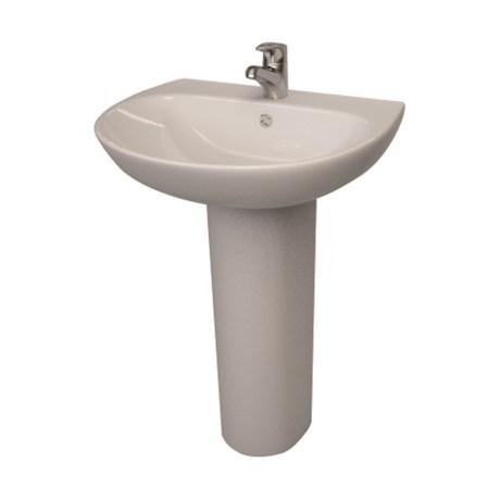 Designer Series 5 55 cm 1TH basin and pedestal