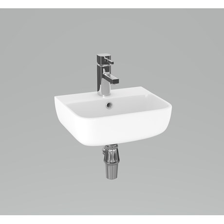 DS6 35 cm 1TH basin and bottle trap