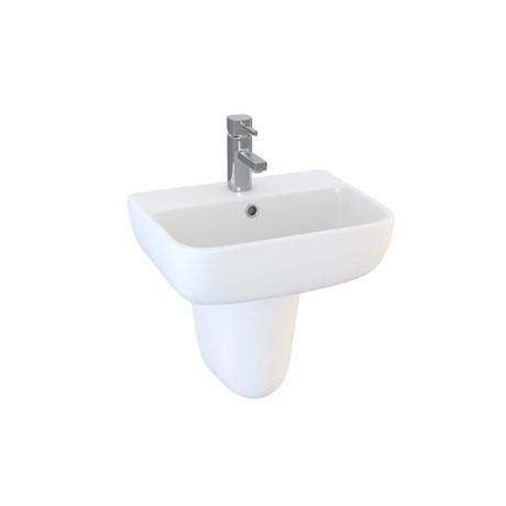 DS6 45 cm 1TH basin and semi pedestal
