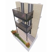 Cobalt Stack Balcony System - Rectangle