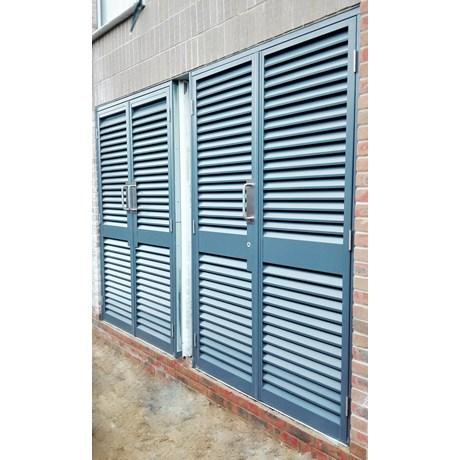 Armourdoor Louvred Steel Door AD30 - Double