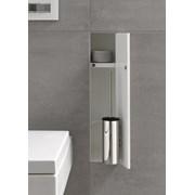 Brush Holder and Niche Tileable Door - Toilet brush holder