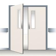 Postformed Double Swing Doorset - Vision Panel 1