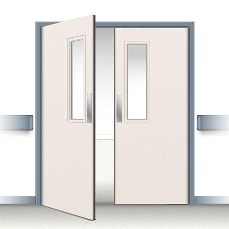 Postformed Double Swing Doorset - Vision Panel 11