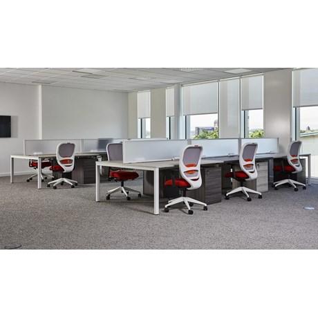 Mesa Single Sided Rectangular Desking