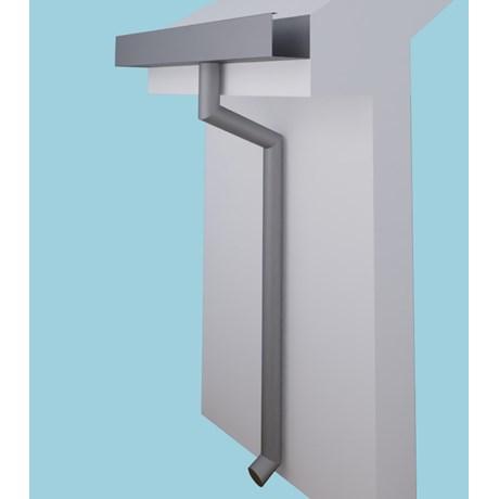 Dales Contemporary Round Aluminium Rainwater Pipes 152.4