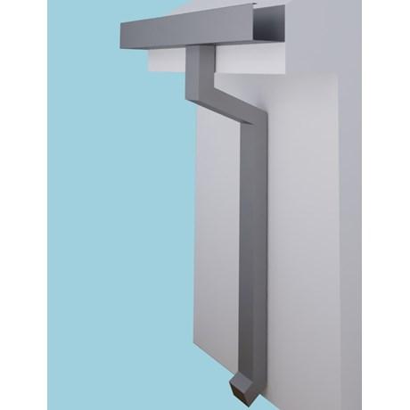 Dales Rectangular Aluminium Pipe - Rectangular Rainwater Pipe