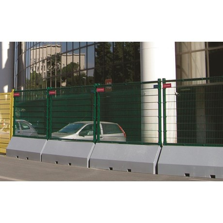 Publifor Half Unit Angled- Metal mesh fence panel