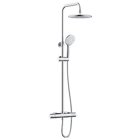 Buzz2 Adjustable Rigid Riser Diverter Bar Shower