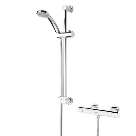 Frenzy Thermostatic Bar Shower With Multi Function Handset