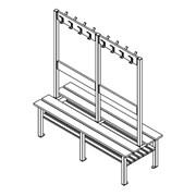 A Series Island Bench Unit With Peg Rail