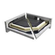 Sopralene Flam 180AF & Sopratherm T warm roof slate system on concrete (CNB1PBPTBK_001)