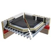 Sopralene Flam 250AF and Sopratherm G warm roof slate system on steel (SNB1PGPSBK_002)