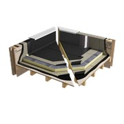 Sopralene Optima C3 GMF & Sopratherm T warm roof granule system on wood (WNB1PBPTBF_001)