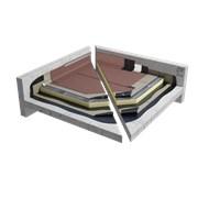 Sopralene Optima C3 GMF & Sopratherm T warm roof granule system on concrete (CNB1PBPTBF_001)