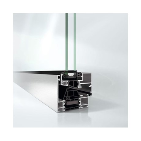 Highly thermally insulated concealed vent window system - AWS70BS.HI