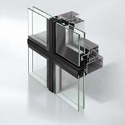 Slimline stick curtain walling façade system - FWS50SG