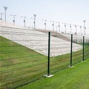 Nylofor 3D Super + Nylofor-Twilfix Posts With Fixators - Metal mesh fence panel