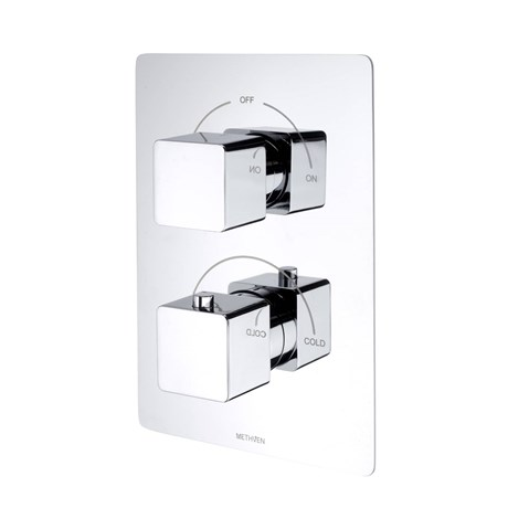 Kiri Concealed Mixer Valve (2 Outlets) - Brass Plate