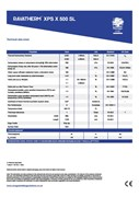 Ravatherm XPS X 500 SL Technical Data Sheet