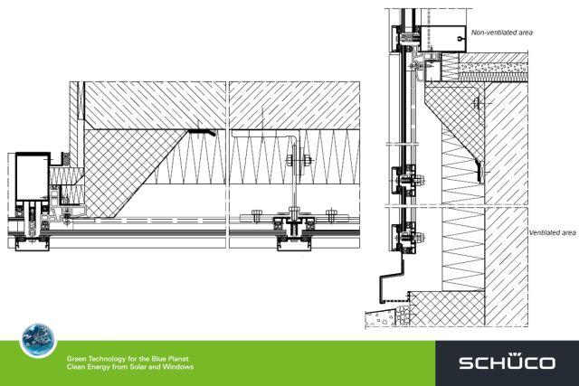 fw50 fw60 ventilated fa ade system schueco uk ltd. Black Bedroom Furniture Sets. Home Design Ideas